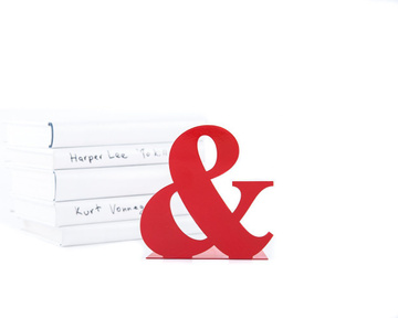 Metal Bookend // -&- // Ampersand // by Atelier Article, Red