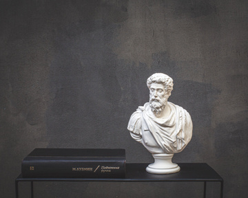 Male Bust Sculpture // Marcus Aurelius Antoninus // Trendy Roman statue for Modern Home