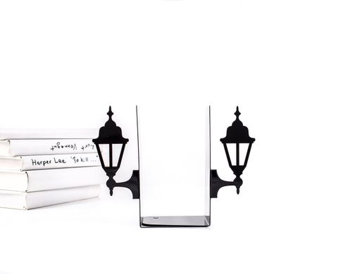 "Metal Bookends ""Old Lamp Posts""  functional decor by Atelier Article, Black"