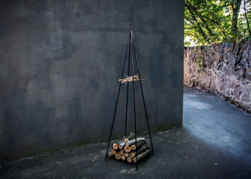 Log holder // Pyramid Firewood Storage for indoors or outdoors by Atelier Article