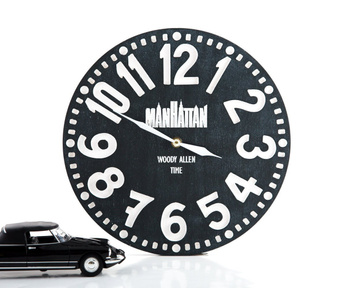 "Wall Clock ""Manhattan"" by Atelier Article, Black"