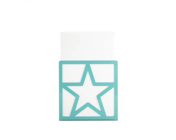 Metal bookend // Teal Star // by Atelier Article, Green