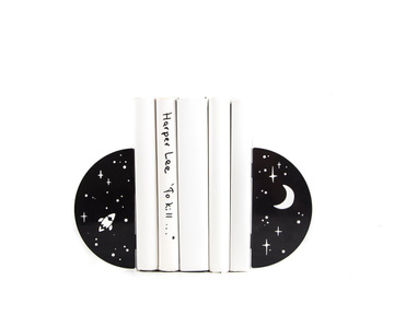 "Metal Bookends ""Night Sky"" functional decor by Atelier Article , Black"