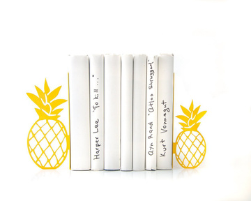 "Kitchen bookbookends ""Pineapples"" by Atelier Article, Yellow"