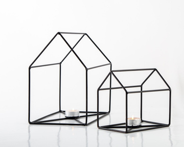 """Clean House"" Candle holders by Atelier Article, Black"