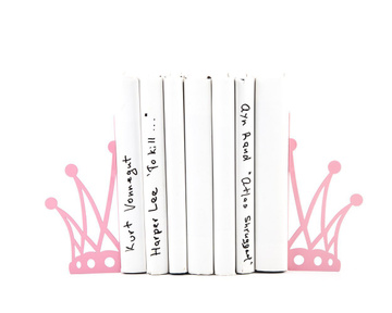 "Metal Bookends for girls ""Reading princess"" by Atelier Article, Pink"