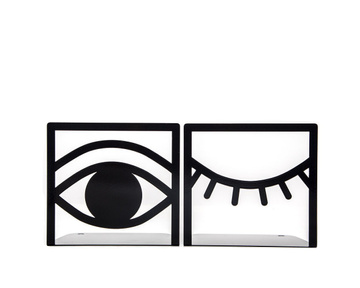 Unique bookends «Eys One Eye Closed One Eye opened» by Atelier Article, Black