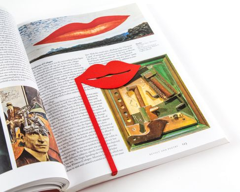 Amazing Bookmark // Red Lips // unique present for an avid reader by Atelier Article, Red