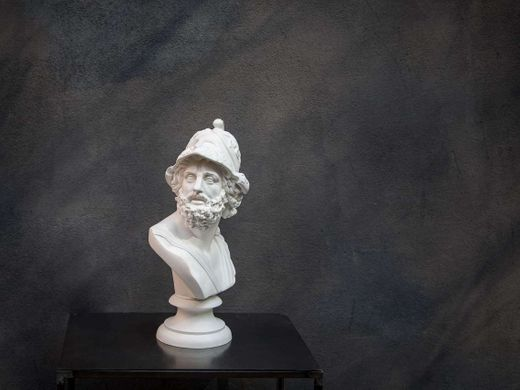 Mennelaus King of Sparta Ceramic Plaster Bust Statue