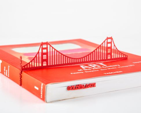Metal bookmark / Golden Gate Bridge / California Love / by Atelier Article, Red