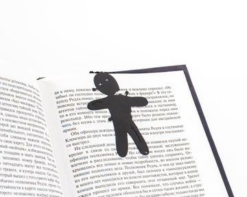 Metal bookmark Voodoo Doll // Free shipping , Black