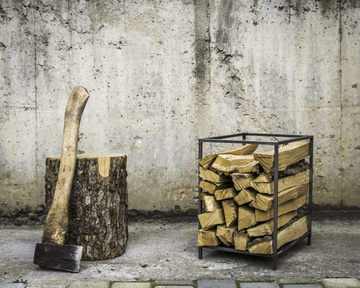 Log Holder Small square // Carrier // Firewood Storage by Atelier Article