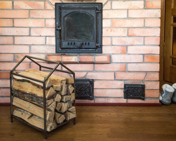 Small Firewood Storage // Carrier // Log holder iron house, Gray