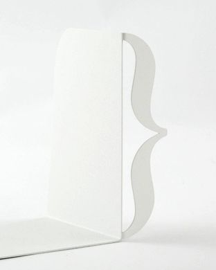 Unique Metal Bookends «Brackets» white edition by Atelier Article, White
