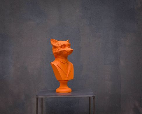 Red Fox Bust // Modern sculpture // Mr Fox inspired // Animal head