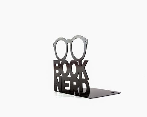 A metal bookend Nerd by Atelier Article, Black