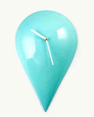 Wall clock «Drop of Turquoise» by Atelier Article, Mint