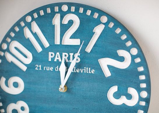 "Wall clock ""Paris bleu"" by Atelier Article"
