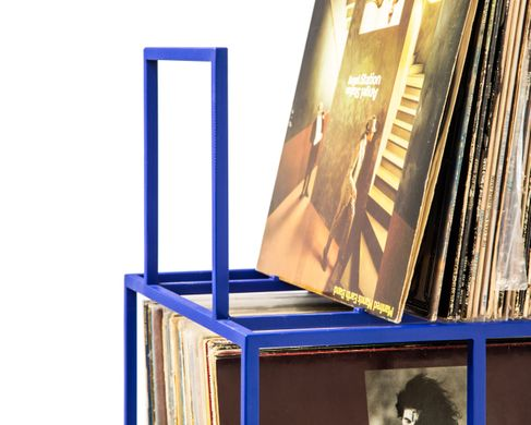 LP storage // 4 deck Album Сrate Сart // Blue edition by Atelier Article, Blue
