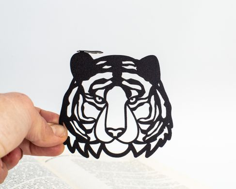 Metal bookmark Tiger, Black