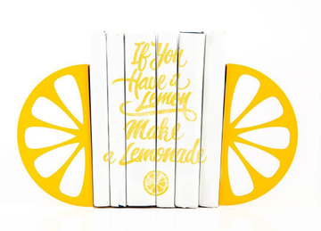 Kitchen Bookends «Lemons» by Atelier Article, Yellow