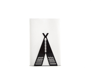 A Unique metal bookend // Tipi - Teepee Tent // by Atelier Article, Black