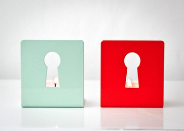 Metal Candle holders // Light out of the keyhole // by Atelier Article, Assorted