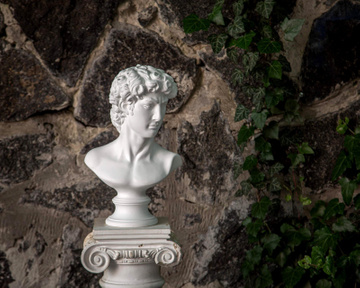 Male Bust Sculpture // Trendy ancient statue for Modern Home