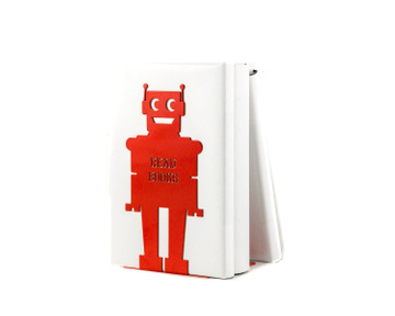 Robot Bookend for a Bright Kids Room by Atelier Article, Red