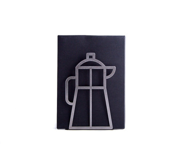 A Metal Kitchen bookend // Coffee pot // cookbook holder by Atelier Article, Gray