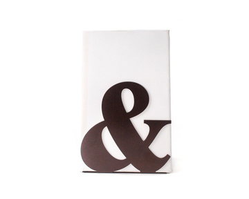 Metal Bookend // -&- // Ampersand // by Atelier Article, Brown