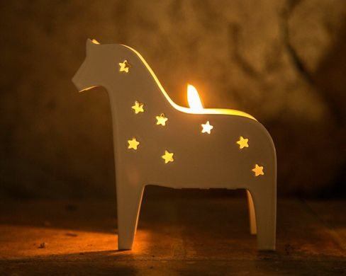 "Candle holder ""Scandinavian Dala Horse"" by Atelier Article"
