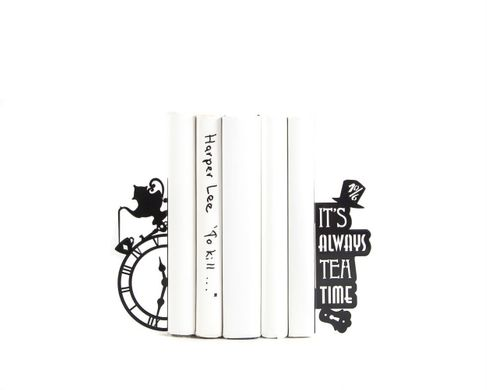 "Bookends ""Mad Tea Party // Alice in Wonderland"" , Black"