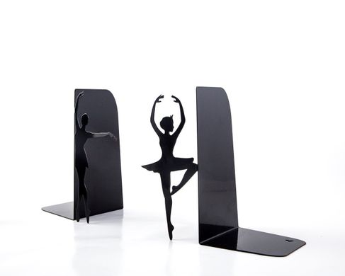 "Metal Bookends ""Ballerinas // Allongée"" ballet inpired functional decor by Atelier Article, Black"