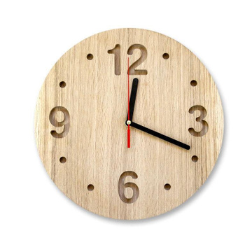 "Wall clock ""Round Wood"" by Atelier Article"