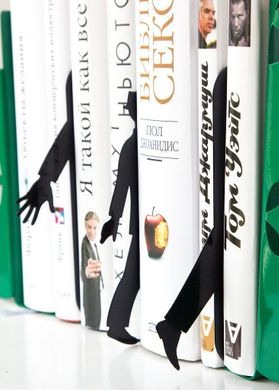 "Book dividers for shelves // bookmarks // SET of 3 ""Mystery No Gun"" by Atelier Article, Black"