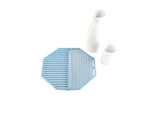 Metal trivet // Geometry design Рexagone // by Atelier Article, Blue