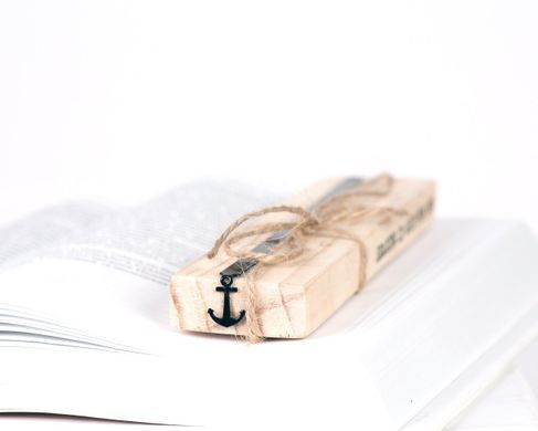 "Metal Bookmark ""Anchor"" by Atelier Article, Black"
