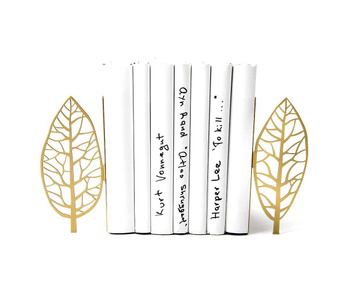 "Metal Bookends ""Golden edition Trees"" Functional decor by Atelier Article, Golden"