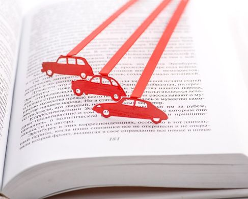 "Metal Bookmark ""Citroen DS"" by Atelier Article, Red"