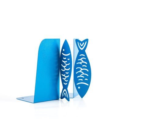 "Kitchen Bookends ""Fish"" by Atelier Article, Blue"