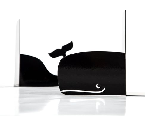 "Metal Bookends ""Whale"" by Atelier Article, Black"