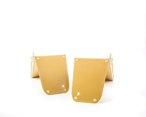 "Metal Bookends ""Brackets Curly Braces"" by Atelier Article, Golden"