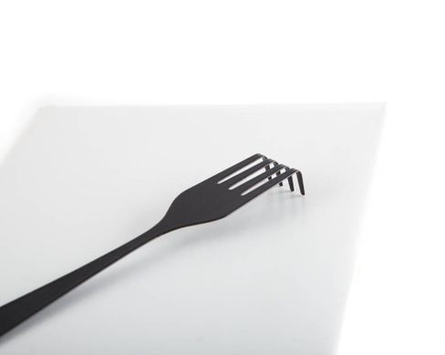 "Metal bookmark ""Fork"" by Atelier Article, Black"