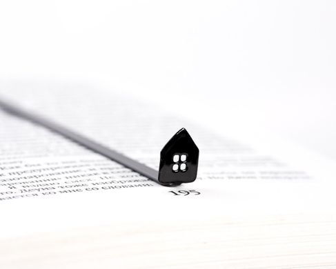 "Metal Bookmark ""Sweet Home"" by Atelier Article, Black"