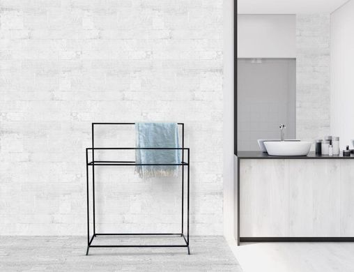 Minimalistic Black Metal Garment Rack // Hanger for Towels // Display for Blankets // by Atelier Article, Black