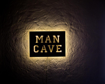 Man Cave Decor // Wall light // Wall Art // by Atelier Article, Yellow