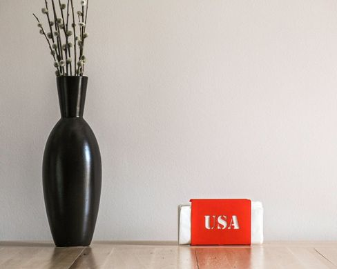 Metal napkin holder // USA // modern functional kitchen decor by Article