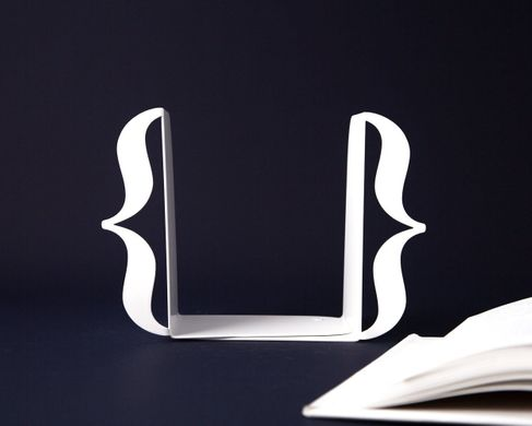 "Bookends ""Curly braces // brackets"" by Atelier Article, White"