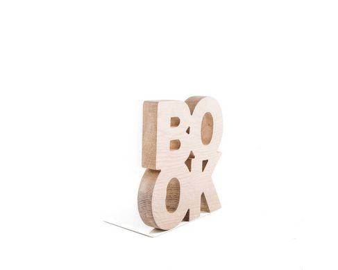 Wooden Bookends BookOne rustic modern stylish bookholders FREE SHIPPING